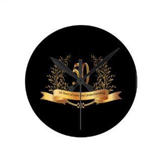 Happy 50th Wedding Anniversary Gifts Wall Clocks