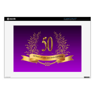 Happy 50th Wedding Anniversary Gifts Decal For Laptop