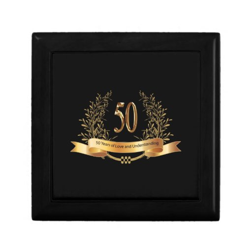 Wedding Anniversary Gifts By Year Jewelry : Happy 50th Wedding Anniversary Gifts Jewelry Box Zazzle