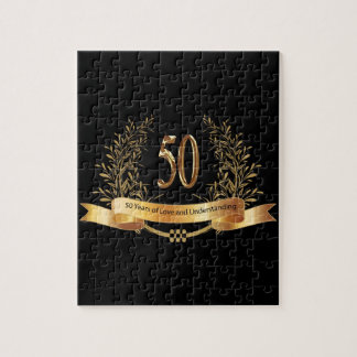 Happy 50th Wedding Anniversary Gifts Jigsaw Puzzle