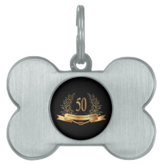 Happy 50th Wedding Anniversary Gifts Pet Name Tag