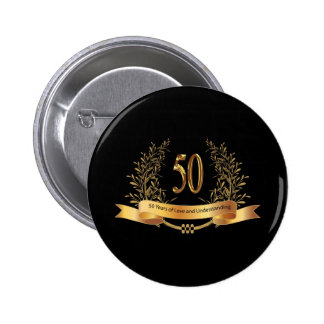Happy 50th Wedding Anniversary Gifts Pinback Button