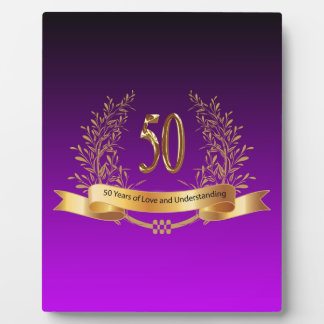 Happy 50th Wedding Anniversary Gifts Plaque