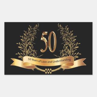 Happy 50th Wedding Anniversary Gifts Rectangular Sticker
