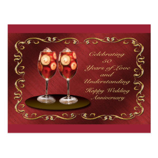 Happy 50th Wedding Anniversary Greeting Card