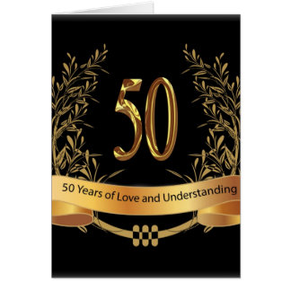 Happy 50th Wedding Anniversary Greeting Cards