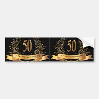 Happy 50th Wedding Anniversary Greeting Cards Car Bumper Sticker
