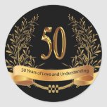 Happy 50th Wedding Anniversary Greeting Cards Sticker