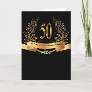 Happy 50th Wedding Anniversary Greeting Carts Card