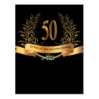 Happy 50th Wedding Anniversary Greeting Carts Postcard