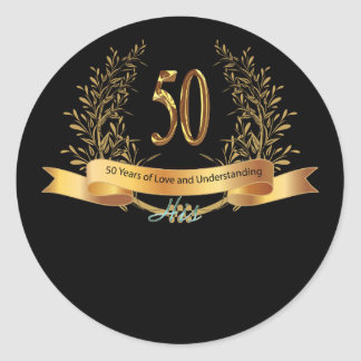 Happy 50th Wedding Anniversary Greeting Carts Sticker
