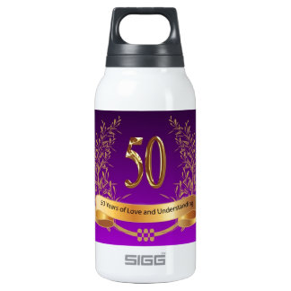 Happy 50th Wedding Anniversary Insulated Water Bottle