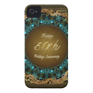 Happy 50th Wedding Anniversary Multi Gifts iPhone 4 Cover