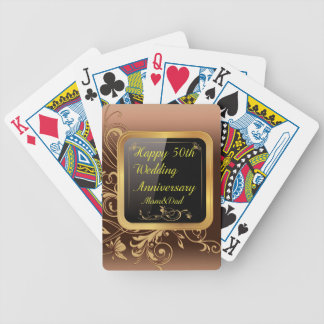 Happy 50th Wedding Anniversary Multi products sele Bicycle Playing Cards