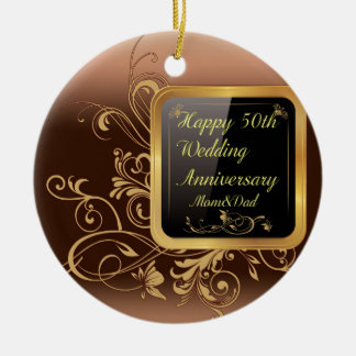 Happy 50th Wedding Anniversary Multi products sele Ceramic Ornament