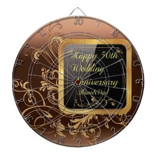 Happy 50th Wedding Anniversary Multi products sele Dartboard