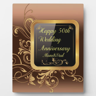 Happy 50th Wedding Anniversary Multi products sele Plaque