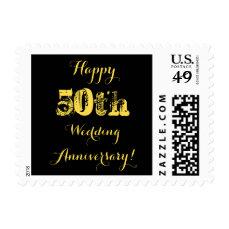 Happy 50th Wedding Anniversary Postage
