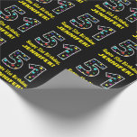 [ Thumbnail: Happy 51st Birthday, Fun Colorful Stars Pattern 51 Wrapping Paper ]