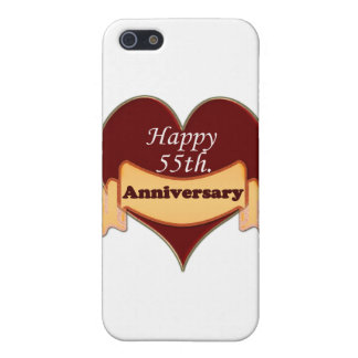Happy 55th. Anniversary Case For iPhone SE/5/5s