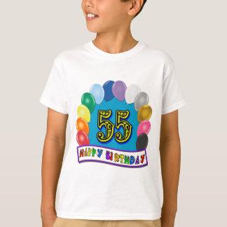 Happy 55th Birthday Balloon Arch T-Shirt