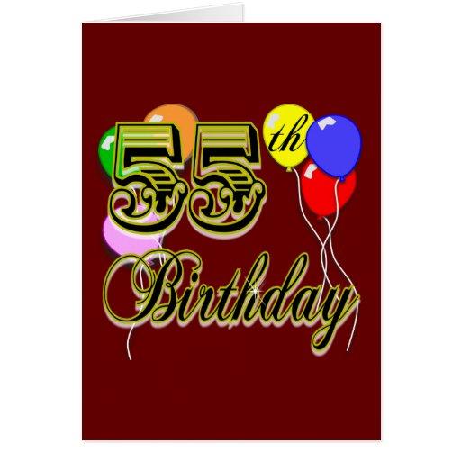 Happy 55th Birthday Celebration Greeting Card