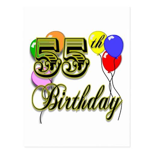 Happy 55th Birthday Celebration Post Card