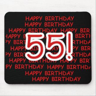 Happy 55th Birthday Mouse Pad
