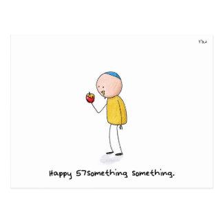 """Happy 57something something"" - Rosh Hashanah Postcard"