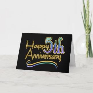 Happy 5th Anniversary Generic Card