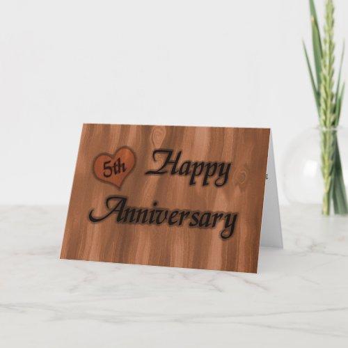 Happy 5th Anniversary wedding anniversary Card