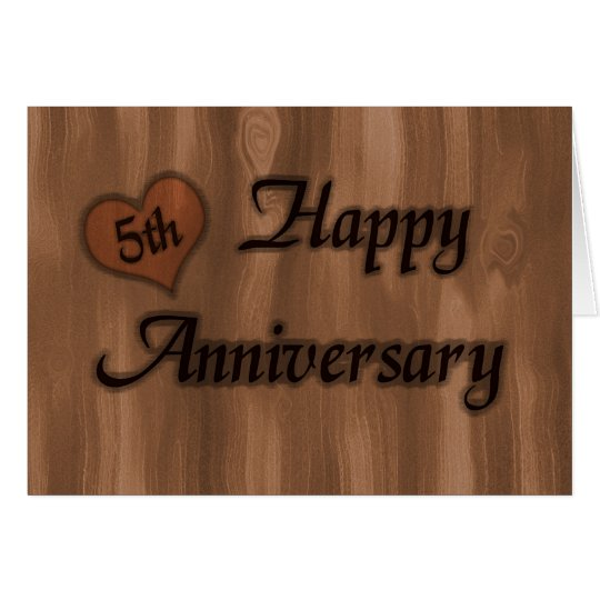 happy 5th anniversary wedding anniversary card zazzle