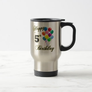 Happy 5th Birthday Coffee Cups and Mugs