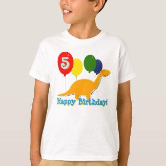 Happy 5th Birthday Dinosaur Balloons T-Shirt