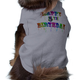 Happy 5th Birthday Gifts - Circus Font Shirt