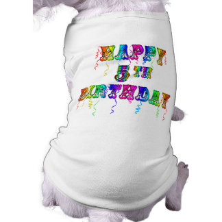 Happy 5th Birthday Gifts - Circus Font T-Shirt