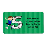 Happy 5th Birthday Round Soccer Goal Labels