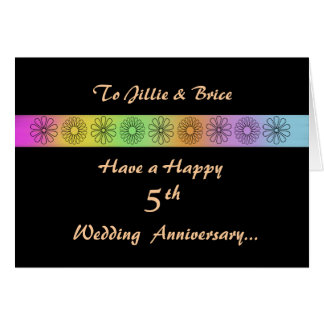 Happy 5th Customizable Anniversary Card