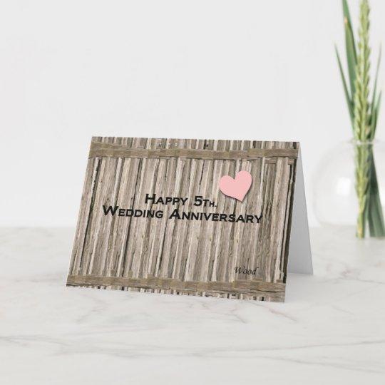 Happy 5th. Wedding Anniversary Card | Zazzle.com