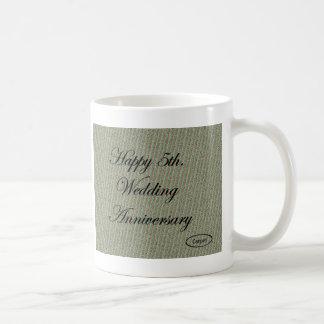 Happy 5th. Wedding Anniversary Coffee Mug