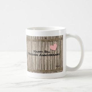 Happy 5th. Wedding Anniversary Classic White Coffee Mug