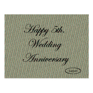 Happy 5th. Wedding Anniversary Postcard