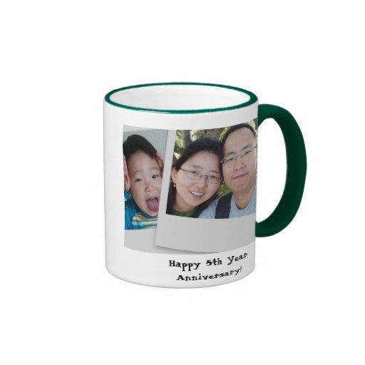 5th Year Anniversary: Happy 5th Year Anniversary! Ringer Coffee Mug