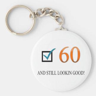 Happy 60th Birthday Basic Round Button Keychain