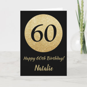 Milestone Birthday Card Happy Sixtieth Birthday Card Elegant Birthday Card Simple Birthday Card Calligraphy Card 60th Birthday Card