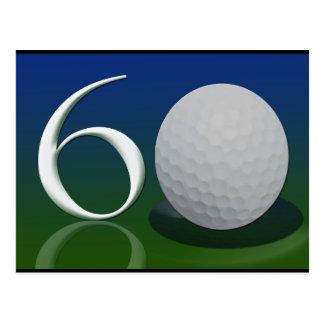 Happy 60th Birthday for golf nut Postcard