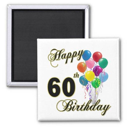 Happy 60th Birthday Gifts and Birthday Apparel Fridge Magnet