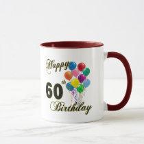 Happy 60th Birthday Gifts and Birthday Apparel Mug