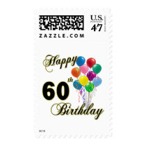 Happy 60th Birthday Gifts and Birthday Apparel Postage