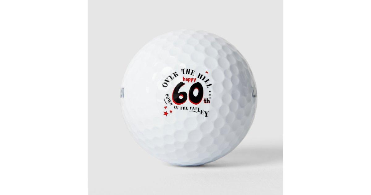 Happy 60th Birthday Golf Balls Zazzle Com